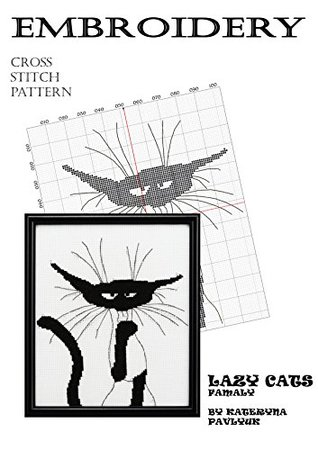 Hand embroidery design books to Download of Nordic Design Funny cat pictures and Black cats cross stitch patterns to Home canvas Wall art