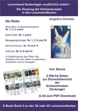 Kartenlegen ausführlich erklärt - Die Deutung der Schüsslersalze in den Lenormandkarten: E-Book Band 4 zu den 36 oder 40 Lenormandkarten (Kartenlegen ausführlich ... in den Lenormandkarten)