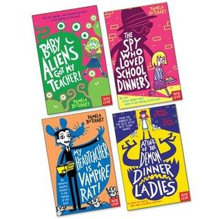 Pamela Butchart Pack, 4 books, RRP £24.96 (Attack of the Demon Dinner Ladies; Baby Aliens Got My Teacher; My Head Teacher is a Vampire Rat; The Spy Who Loved School Dinners).