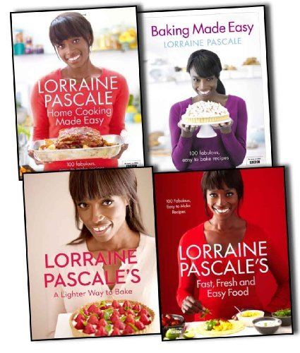 Lorraine Pascale 4 Books Collection Pack Set A Lighter Way to Bake, Lorraine Pascales Fast, Fresh and Easy Food, Home Cooking Made Easy, Baking Made Easy