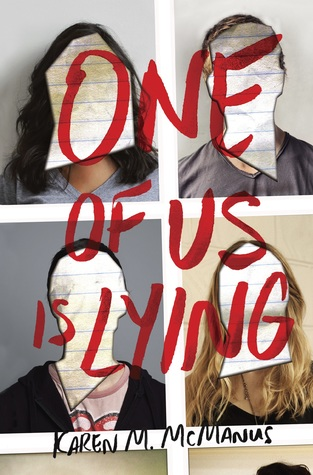 One of Us Is Lying cover (link to Goodreads)