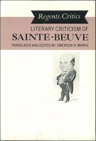 Literary Criticism of Sainte-Beuve