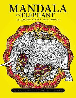 Mandala and Elephant Coloring Books for Adults Relaxation