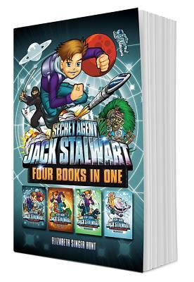 Secret Agent Jack Stalwart (Books 9-12): The Deadly Race to Space, The Quest for Aztec Gold, The Theft of the Samurai Sword, The Fight for the Frozen Land
