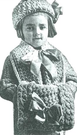 #0200 LITTLE MISS MUFFET SET VINTAGE CROCHET PATTERN