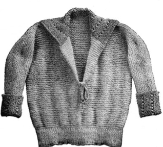 #0322 CHILD'S KNIT COUNTRY CLUB SWEATER VINTAGE KNITTING PATTERN
