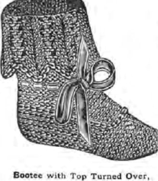 #0380 SUSIE BOOTEES VINTAGE KNITTING PATTERN