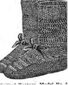#0383 TOMMY BOOTEES VINTAGE KNITTING PATTERN