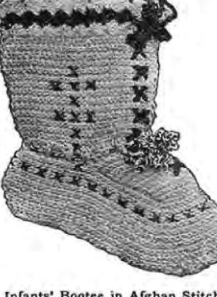 #0426 INFANT BOOTEE VINTAGE CROCHET PATTERN