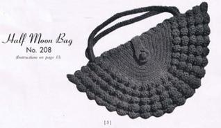 #0746 HALF MOON BAG VINTAGE CROCHET PATTERN