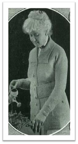 #1235 ELDERLY LADIES VINTAGE KNITTING SWEATER VINTAGE KNITTING PATTERN