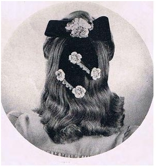 #1371 BOW AND FLOWER HAIR - DO VINTAGE CROCHET PATTERN