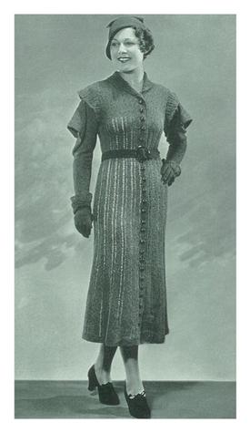 #1489 NEW YORKER DRESS VINTAGE KNITTING PATTERN