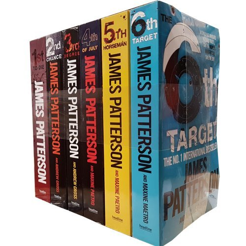 James Patterson Womens Murder Club Series 1-6 Collection 6 Books Bundle (1st to Die, 2nd Chance, 3rd Degree, 4th of July, The 5th Horseman The 6th Target)