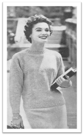 #1852 SEEMLESS PULLOVER VINTAGE KNITTING PATTERN