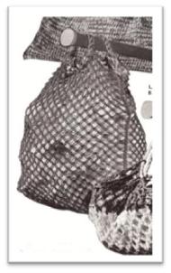 #2072 LONG SHOPPING BAG VINTAGE CROCHET PATTERN