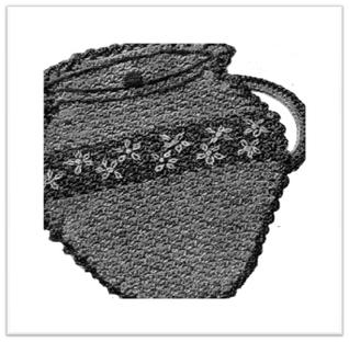 #2327 COOKIE JAR POTHOLDER VINTAGE CROCHET PATTERN