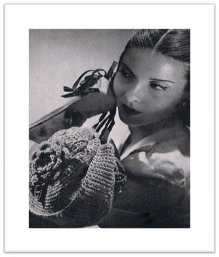 #2344 ANNABELLE BAG VINTAGE CROCHET PATTERN