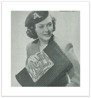 #2401 LINDA CORDET HAT AND BAG VINTAGE CROCHET PATTERN