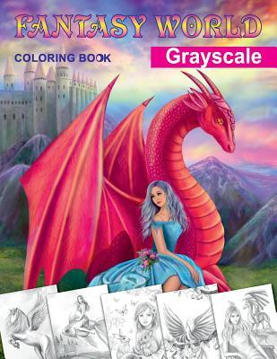 Fantasy World Grayscale Coloring Book Adult By Alena