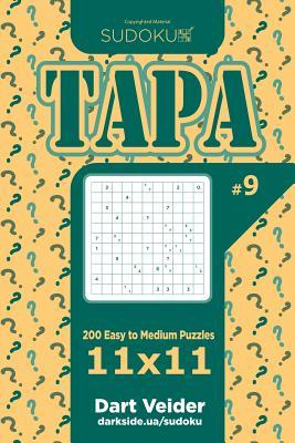 Sudoku Tapa - 200 Easy to Medium Puzzles 11x11 (Volume 9)