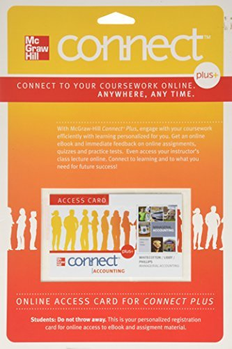 Connect Accounting Plus Card to accompany Managerial Accounting (McGraw Hill Connect