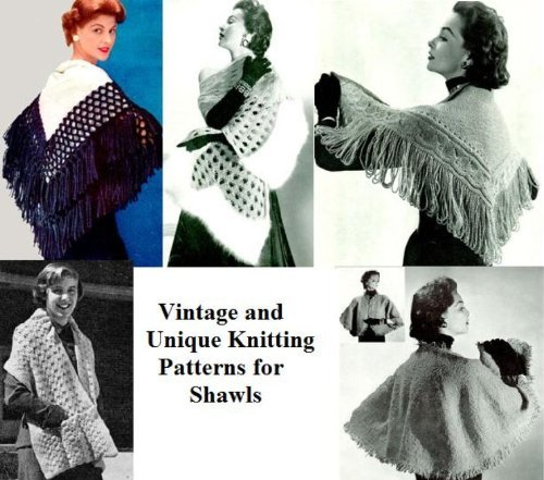 Patrons de tricot vintage et Unique pour les châles