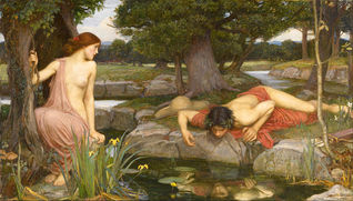 The legend of Echo & Narcissus myth from Ovid's Metamorphoses