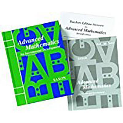 Saxon Advanced Math: Homeschool Kit W/Solutions Manual Grades 9-12