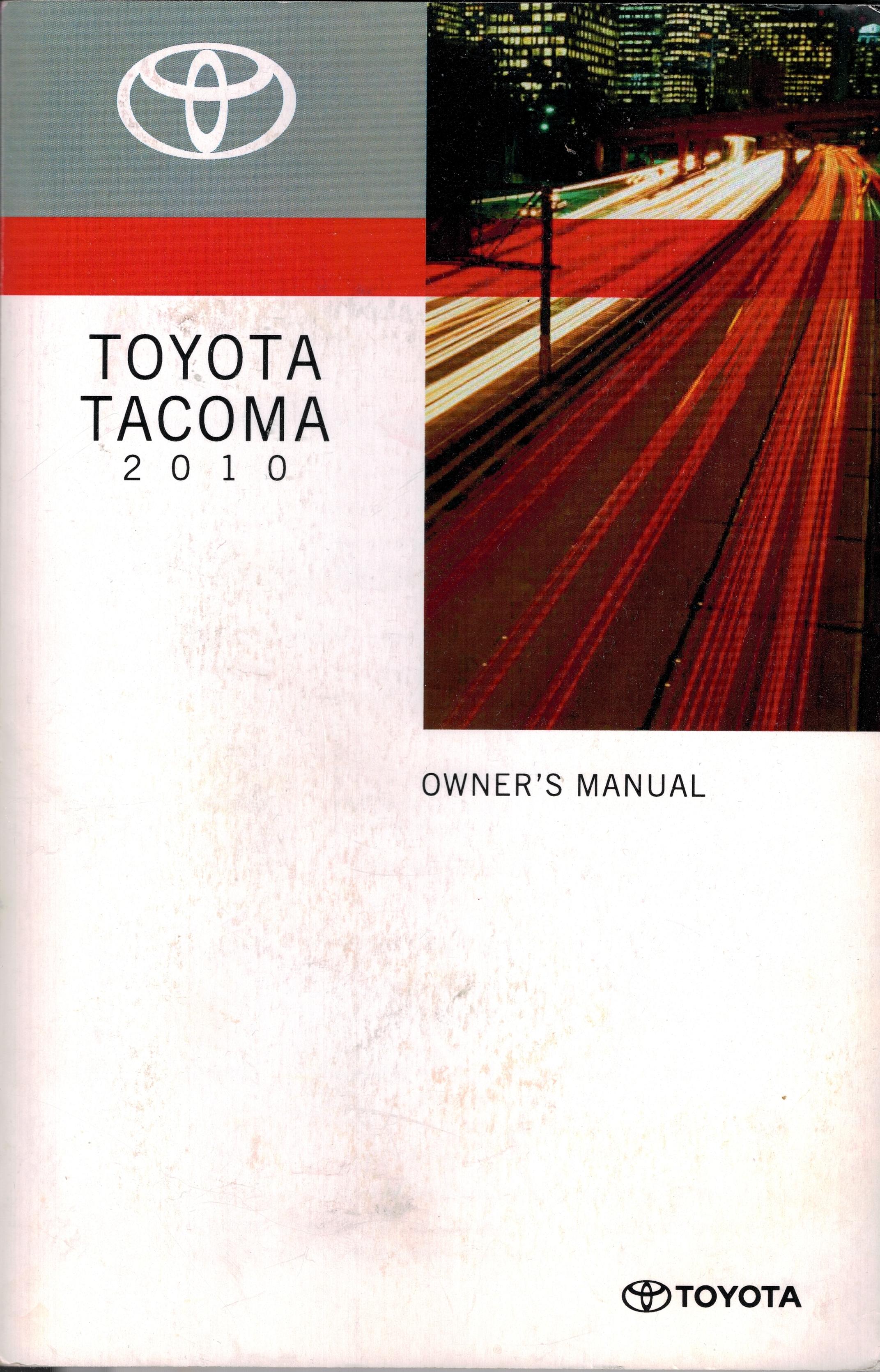 Toyota Tacoma 2010 Owners Manual