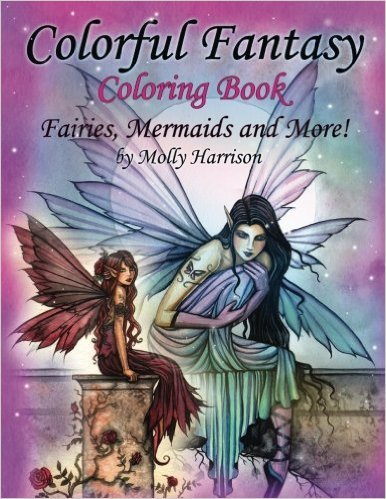 Colorful Fantasy Coloring Book: By Molly Harrison