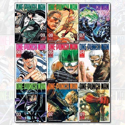 One-Punch Man Volume 1-9 Children Manga Books 9 Books Collection Set