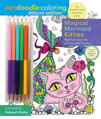 Zendoodle Coloring: Magical Mermaid Kitties: Deluxe Edition with Pencils