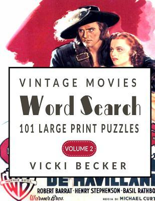 Vintage Movies Word Search: 101 Large Print Word Search Puzzles