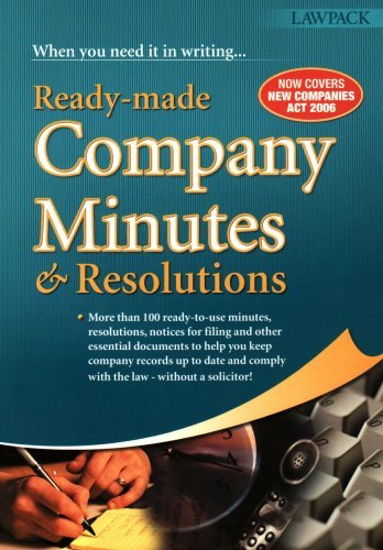 Ready-made Company Minutes and Resolutions