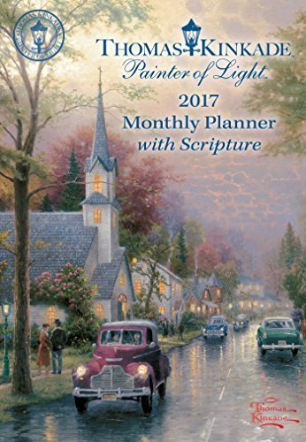 Thomas Kinkade Painter of Light with Scripture 2017 Monthly Pocket Planner Calen