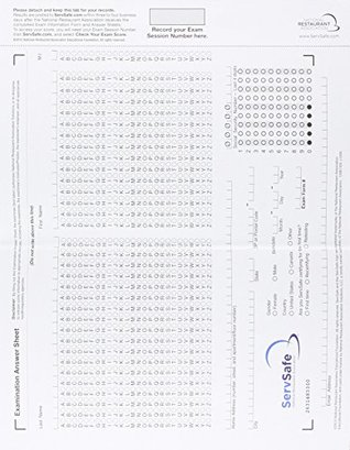 ServSafe Exam Answer Sheet for Pencil/ Paper Exam (stand-alone), with Cardboard Backer Package (6th Edition)