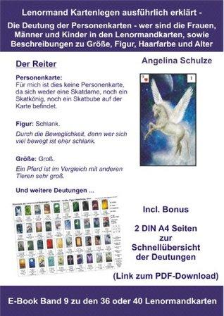 Kartenlegen ausführlich erklärt - Die Deutung der Personenkarten - wer sind die Frauen, Männer und Kinder in den Lenormandkarten ...: E-Book Band 9 zu ... in den Lenormandkarten)