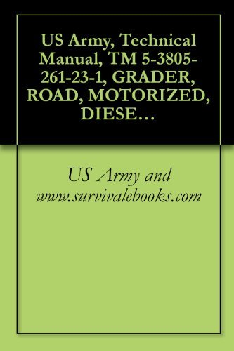 US Army, Technical Manual, TM 5-3805-261-23-1, GRADER, ROAD, MOTORIZED, DIESEL ENGINE DRIVEN (DED), HEAVY, COMMERCIAL CONSTRUCTION EQUIPMENT (CCE) (NSN ... CATERPILLAR MODEL 130GSCE (EIC: EJH)