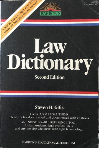 Law Dictionary Book