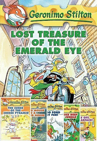 Geronimo Stilton Adventures Pack 1-6; Lost Treasure, Curse of the Cheese Pyramid, Cat and Mouse in a Haunted House, I'm Too Fond of my Fur, Four Mice Deep in the Jungle, Paws Off, Cheddarface