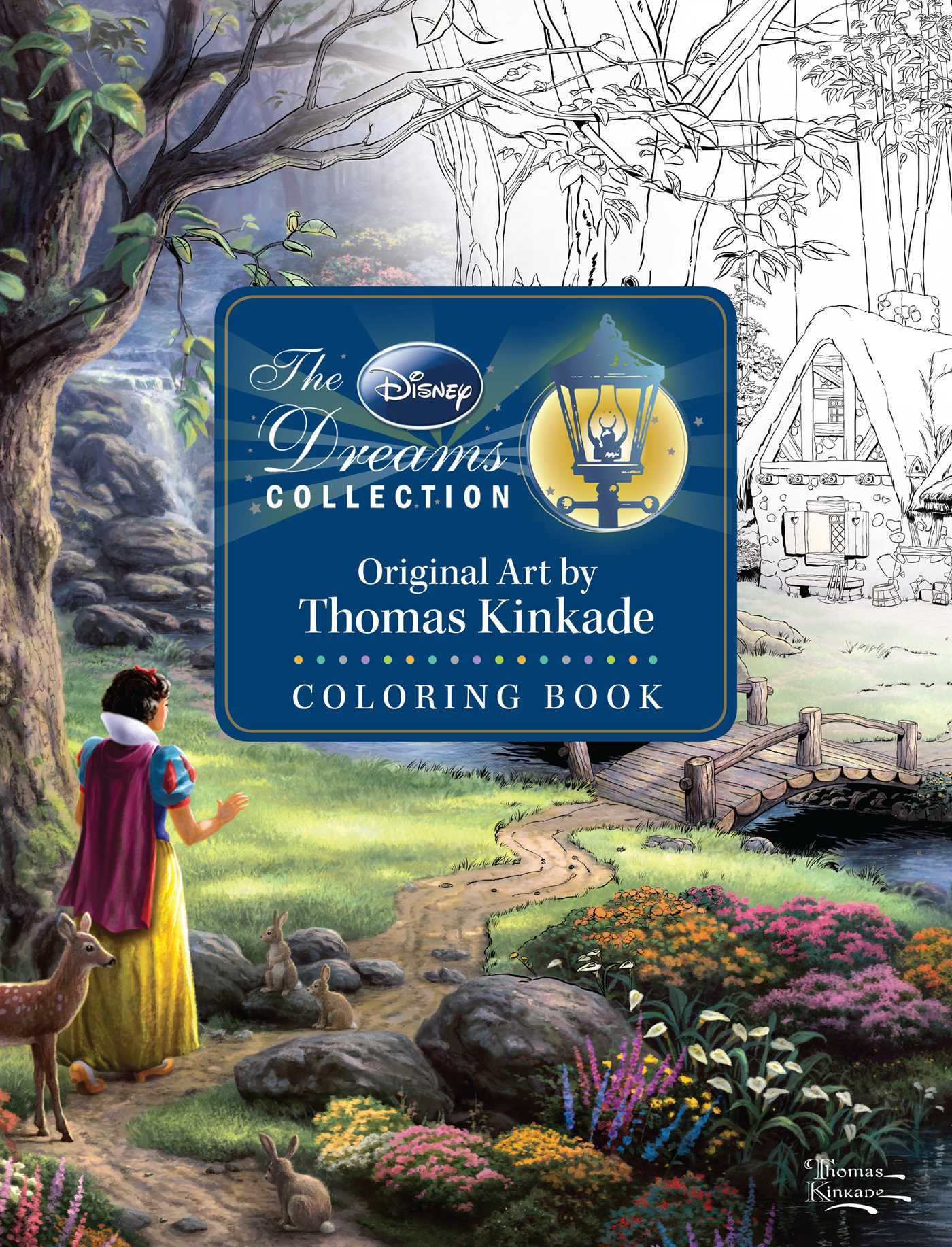 Disney Dreams Collection Thomas Kinkade Studios Coloring Book