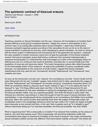 The Epistemic Contract of Bisexual Erasure
