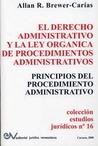 EL DERECHO ADMINISTRATIVO Y LA LEY ORGÁNICA DE PROCEDIMIENTOS ADMINISTRATIVOS