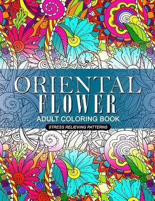 Oriental Flower Adult Coloring Book