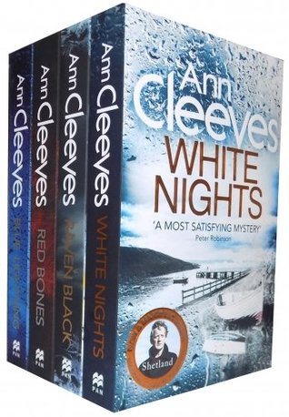 Ann Cleeves TV Shetland Series Collection 4 Books Set- Blue Lightning, Raven Black, White Nights, Red Bones