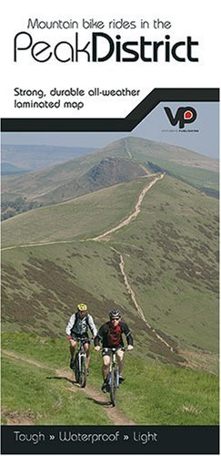 Mountain Bike Rides in the Peak District: Strong, Durable All-weather Laminated Map