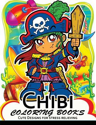 Chibi Coloring Books: Cute Character Designs with Flower and Nature