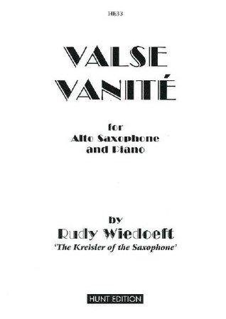 Wiedoeft - Valse Vanite - Alto Saxophone & Piano