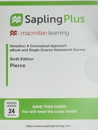 Saplingplus for Genetics: A Conceptual Approach (One-Term Homework with Twenty-Four Months E-Book Access)